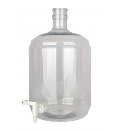 Damajuana Carboy PET 12 litros con grifo