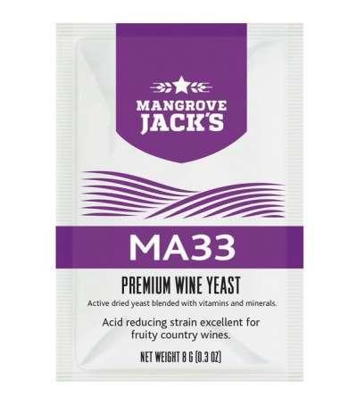 Levadura vino en polvo Mangrove Jack MA33 - 8 g