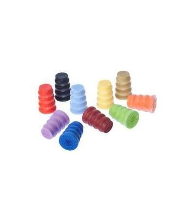 5 tapones plastico en forma de onda