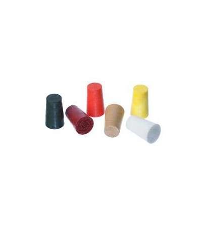 5 tapones plastico lisos