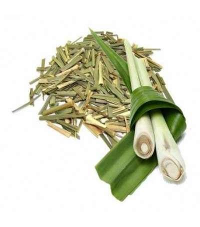 Lemongrass hojas cortadas