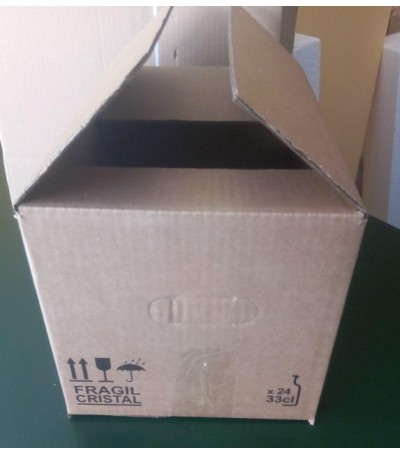20 cajas de cartón 24x33cl