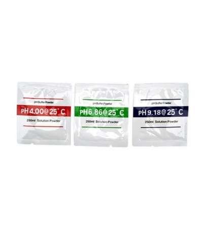 Sobres de polvo para calibracion del medidor de PH
