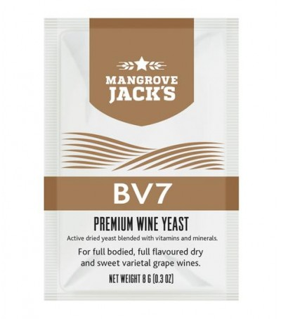 Levadura vino en polvo Mangrove Jack BV7 - 8 g