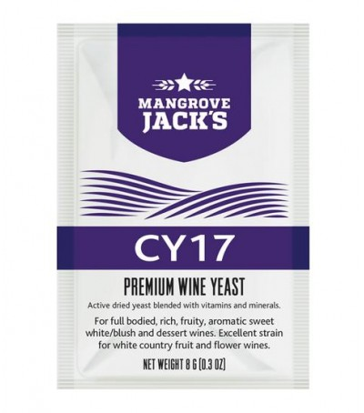 Levadura vino en polvo Mangrove Jack CY17 - 8 g