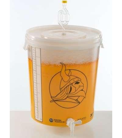 Cubo de fermentación 30L con tapa + grifo + válvula enolandia