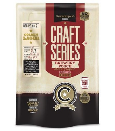 Mangrove Craft series Cerveza Golden Lager - 23 L