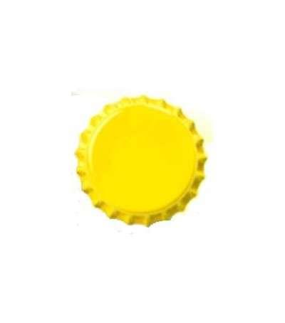 Chapas de 26 mm amarillas - 100 unid