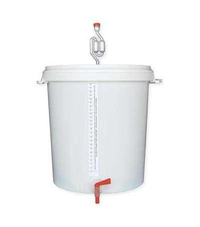Cubo de fermentación 30L con tapa + grifo + válvula brewferm