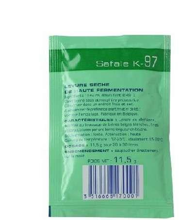 Levadura en polvo Safale K-97 11,5g