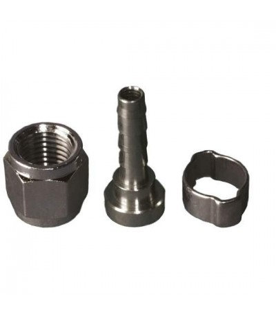 Adaptador conector ball lock rosca para tubo de 8 mm