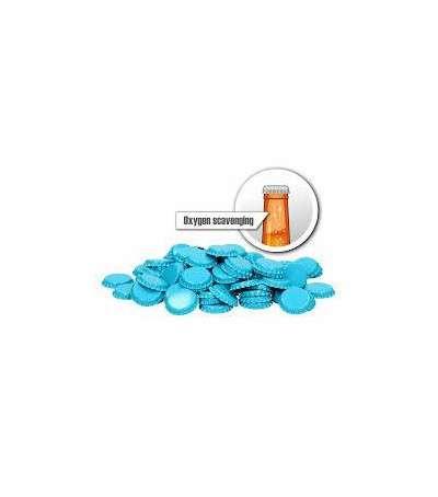 Chapas de 26 mm azules claras con eliminacion de oxigeno - 100 und